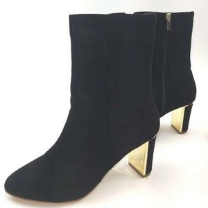 IMAN Global Chic Faux Suede Booties Sz 7